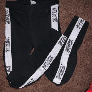 VS Pink Leggings Black&White